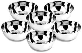 Premium Quality Medium Size Stainless Steel Veg Bowl Set of 6
