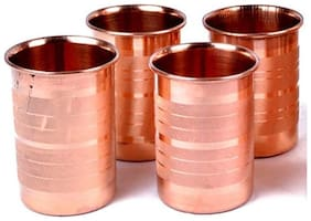 100% Pure Premium Quality Luxury Copper Glass 4 pcs