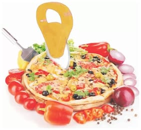 Premium Smoothly Cutting Wheel Pizza Cutter  (Stainless Steel) (Multicolor) 1Pc