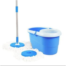Premsons Spin Mop & Bucket Magic 360 Degree Cleaning with 2 Mirofiber Refills