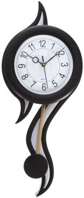 President Black And Silver Pendulum Wall Clock