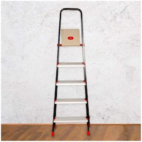 Prestige 42836 Aluminium 5 Steps Ladder ( Black , Front Step )