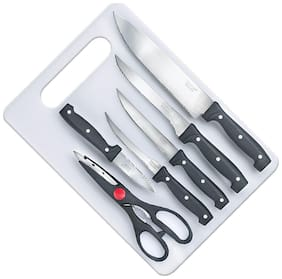 PRESTIGE 7 pc KNIFE& BOARD SET
