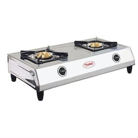 Prestige AGNI 2 Burners Stainless Steel Gas Stove - Silver