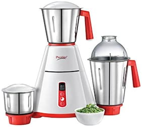 Prestige 41356 750 W Mixer Grinder ( White & Red , 3 Jars )