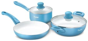 Prestige Luxe Ceramic cookware, 3 Piece Set with Induction Base