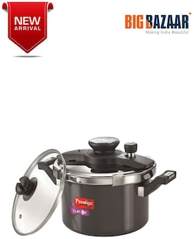 Prestige Clip On Hard Anodised Pressure Cooker 5L with Glass Lid