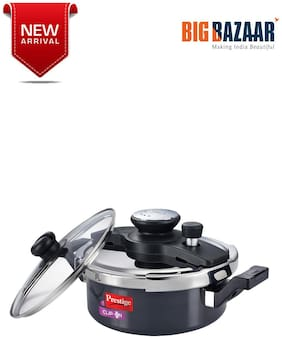 Prestige Clip On Hard Anodised Pressure Cooker 3L with Glass Lid