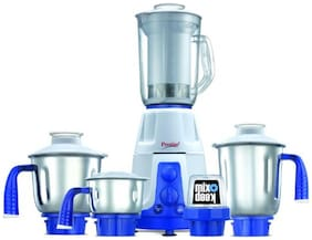 Prestige DELUXE PLUS VS 750 W Mixer Grinder ( White & Blue , 5 Jars )