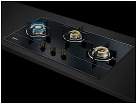 Prestige 3 Burner Automatic Hobs Black Gas Stove - GOLD