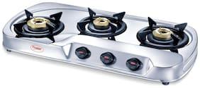 Prestige 3 Burner Regular Silver Gas Stove ,