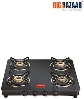 Prestige (GTM04) 4 Burners Gas Stove - Black