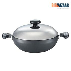 Prestige Hard Anodized 200 mm Kadai (Grey)
