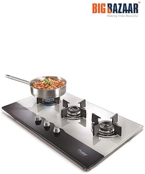 Prestige 3 Burners Hob Top Gas Stove - Silver , Auto Ignition