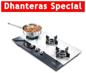 Prestige 40557 3 Burners Stainless Steel Hob Top Gas Stove - Silver , Auto Ignition