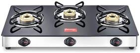 Prestige Magic 3 Burner Regular Black Gas Stove , ISI Certified
