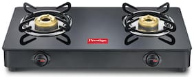 Prestige Magic 2 Burner Regular Black Gas Stove ,