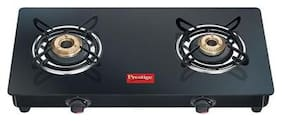 Prestige MARVEL 2 Burners MS Powder Coated Body Gas Stove - Black