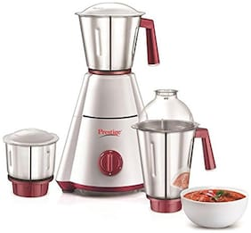 Prestige NAK PLUS 750 W Mixer Grinder ( Red & White , 3 Jars )