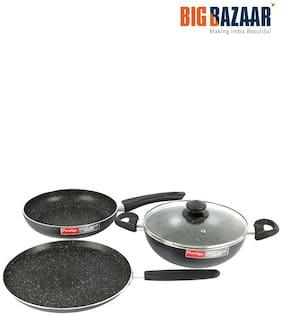 Prestige Omega Deluxe 4 Pcs Cookware Set (Black)