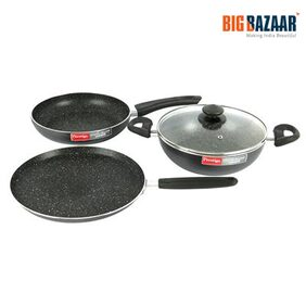 Prestige Omega Deluxe 4 Pcs Cookware Set (Black)
