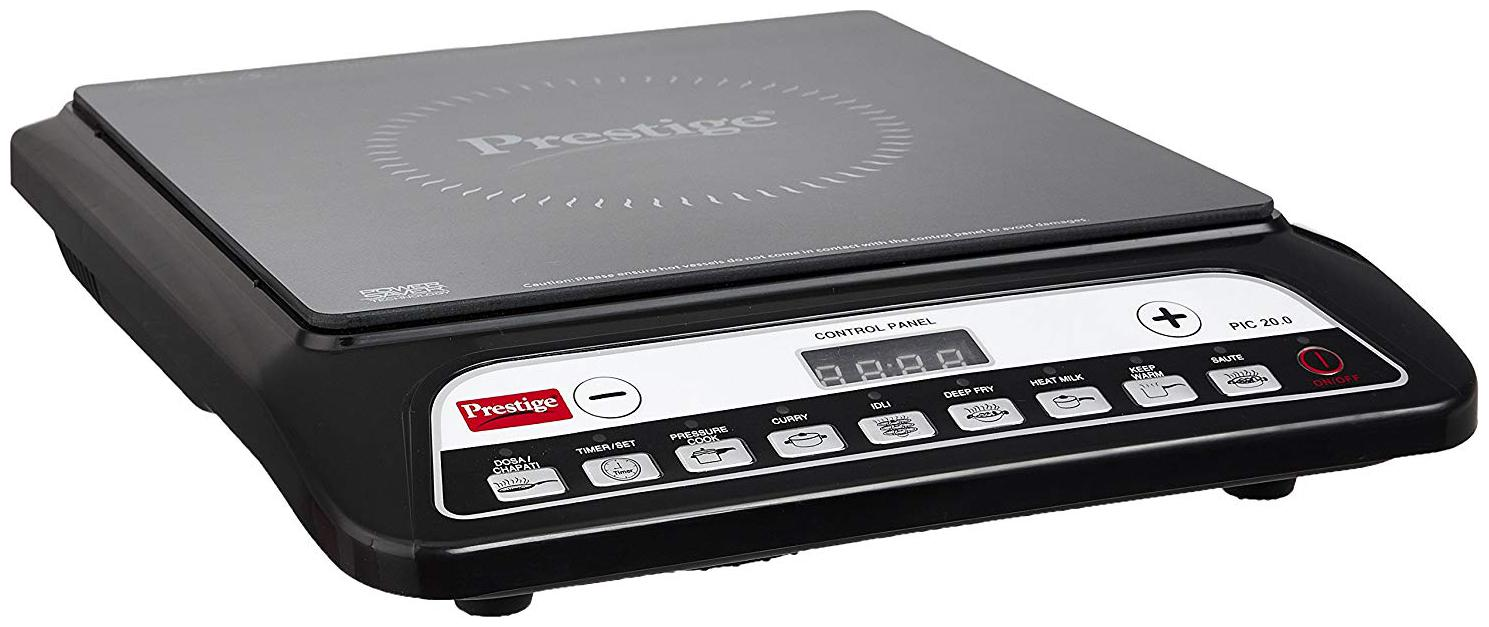 Prestige PIC 20 1200 W Induction Cooktop   Black , Push Button Control  by Amerex