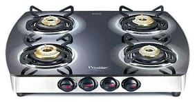 Prestige PREMIA 4 Burners Stainless Steel With Glass Top Gas Stove - Assorted , Auto Ignition