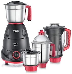 Prestige REGAL 750 W Juicer Mixer Grinder ( Black , 4 Jars )