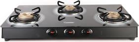 Prestige 3 Burners Gas Stove - Black