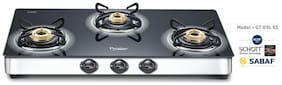 Prestige ROYALE 3 Burners Stainless Steel Gas Stove - Black