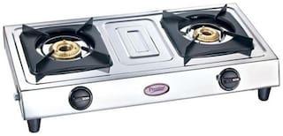 Prestige 2 Burners Gas Stove - Silver