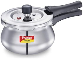 Prestige Svachh Stainless Steel 2 L Induction Bottom Outer Lid Pressure Cooker - Set of 1 , ISI Certified