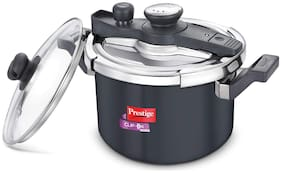 Prestige Clip on Svachh Hard-Anodized Aluminium 5 L Induction Bottom Outer Lid Pressure Cooker - Set of 1 ,