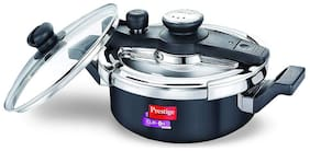 Prestige Svachh Hard-Anodized Aluminium 3 L Induction Bottom Outer Lid Pressure Cooker - Set of 1 , ISI Certified