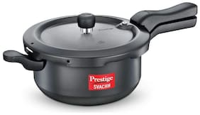 Prestige Svachh Hard-Anodized Aluminium 5 L Induction Bottom Outer Lid Pressure Cooker - Set of 1 , ISI Certified