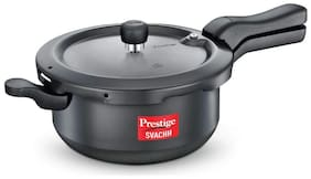 Prestige Svachh Hard-Anodized Aluminium 3.5 L Induction Bottom Outer Lid Pressure Cooker - Set of 1 , ISI Certified