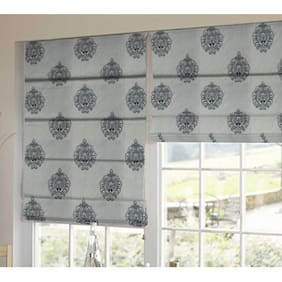 Presto Black Abstract Tissue Embroidered Window Blind