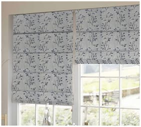 Presto Black And White Floral Tissue Embroidered Window Blind