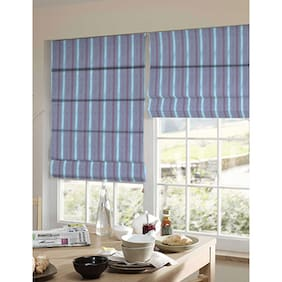 Presto Blue Geometrical Jacquard Window Blind