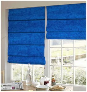 Presto Blue Solid Velvet Window Blind