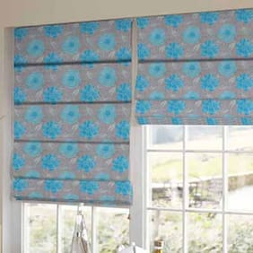 Presto Blue Floral Printed Window Blind