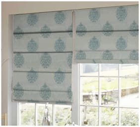 Presto Blue Abstract Tissue Embroidered Window Blind
