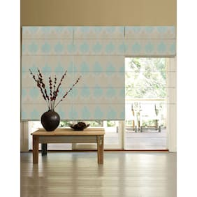 Presto Blue Abstract Jacquard Window Blind