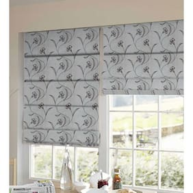 Presto Brown And Beige Floral Tissue Embroidered Window Blind