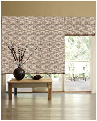 Presto Brown Abstract Jacquard Window Blind