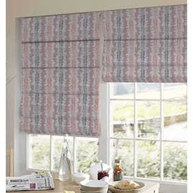 Presto Brown And Orange Abstract Jacquard Window Blind