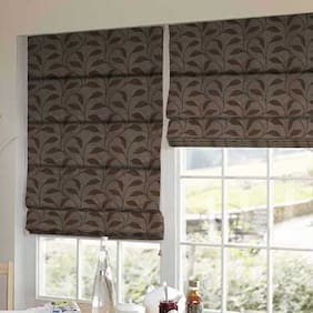 Presto Brown Floral Jacquard Window Blind