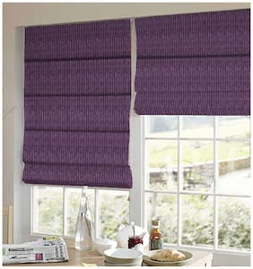 Presto Dark Purple Stripes Jacquard Window Blind