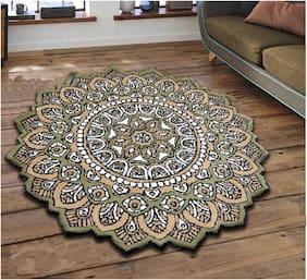 Presto Ethnic Carpet Green;Grey and Gold