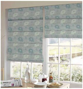 Presto Green And Gold Floral Jacquard Window Blind